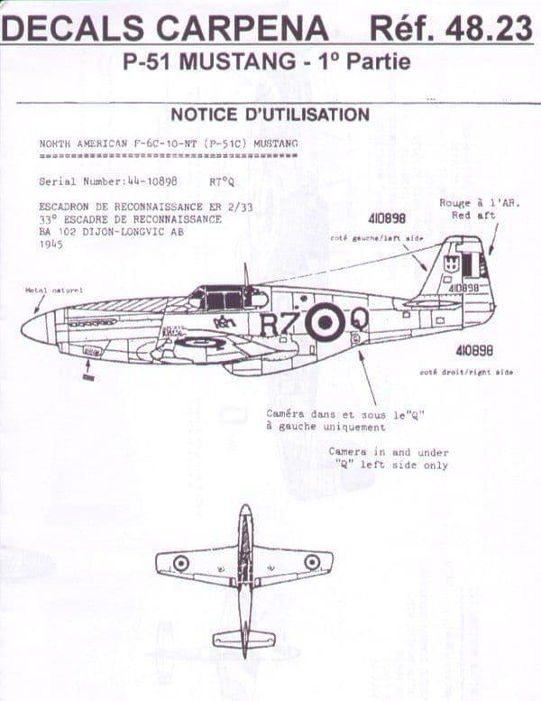 Colorado Decals 1//48 North American P-51 Mustang # 48024